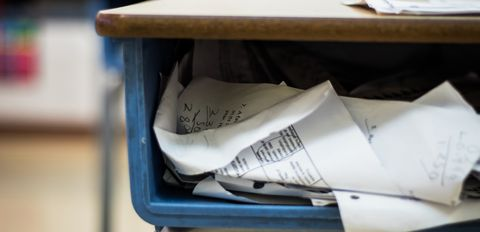 Going paperless means less stuff for students to keep track of.