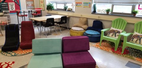 Using flexible seating is one way to create an inclusive classroom.