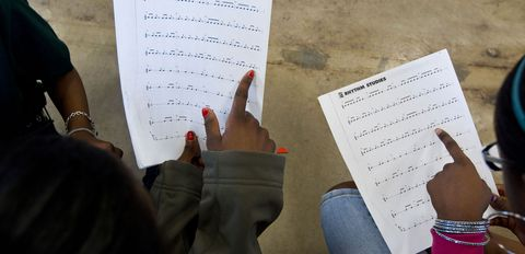 A technique for reading music can be modified for reading words.