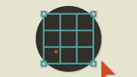 Graphic of grid with arrow