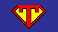"Superhero image featuring the letter ""T"""