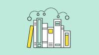 Graphic of curriculum on a bookshelf