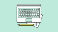 Graphic of laptop keyboard