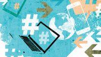 Illustration of the hashtag symbol