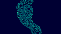 An illustration of a digital footprint