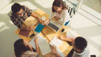 Students work together to develop 21st-century skills.
