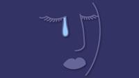 Illio of a woman crying a tear