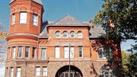 photograph of a brick front-of-school facade