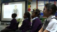 Primary school students are in the classroom with