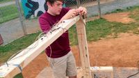 Nick working on an electrical project