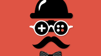 Illio of a man wearing a top hat, glasses, moustache, and bow tie