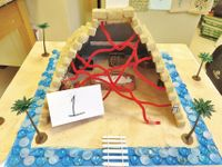 Model of a pyramid built by a student