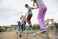 Children playing together on a playground