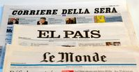 Assortment of European newspapers