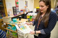 Katie Papaccoli teaches a class of first graders with autism at the P186X school in District 75 in the Bronx. March, 2019. Edwin J. Torres for Edutopia.