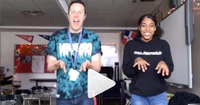 Teacher and student in Dubsmash video