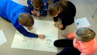 6th Graders Solving Math Problem as a Group