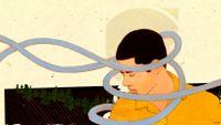 Illustration concept for confronting emotions