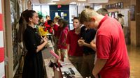 Middle school student participates in presentation during National History Day