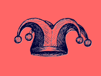Drawing of a jester hat