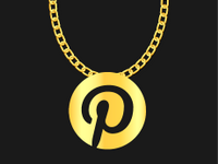 Illio of a medallion with the Pinterest logo