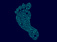 An illustration of a digital footprint