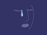 Illio of a woman crying a tear