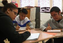 Students are working in a group.