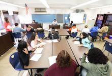 High school students engage in civic debate