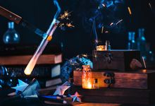 Making stars: magical still life with sparks
