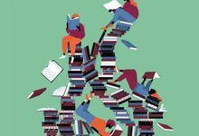 Illustration showing students reading