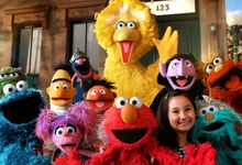 An image of the Sesame Street muppets on Sesame Street