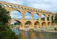 Pont du Gard, an ancient Roman aqueduct bridge