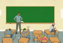 An illustration of a teacher trying to engage students