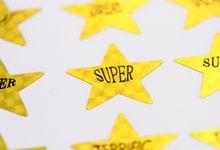 Gold star reward stickers