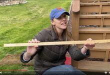 Jenny Gieras demonstrates a live instructional video