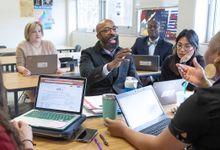Teachers at a meeting