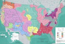 Map showing distribution of Native American tribes before colonization