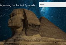 A google slide with multimedia about the ancient pyramids