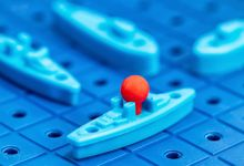 """A photo of the classic board game """"Battleship"""""""