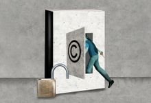 Illustration concept for appropriate use of copyrighted materials