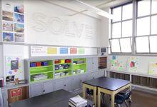 A light-filled classroom corner