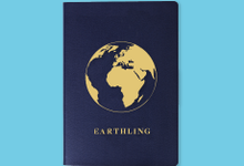 """Graphic of globe labeled """"Earthling."""""""