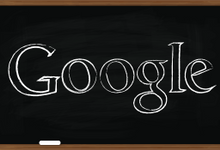 "Illio of ""Google"" written on a black chalk board"