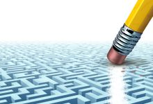 An illustration of a pencil is erasing part of a maze.