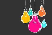 illustration of multicolored lightbulbs