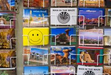 A rack of postcards from New Mexico