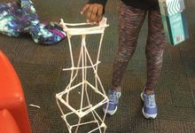 Student straw tower