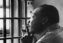Martin Luther King in jail in Birmingham, Alabama