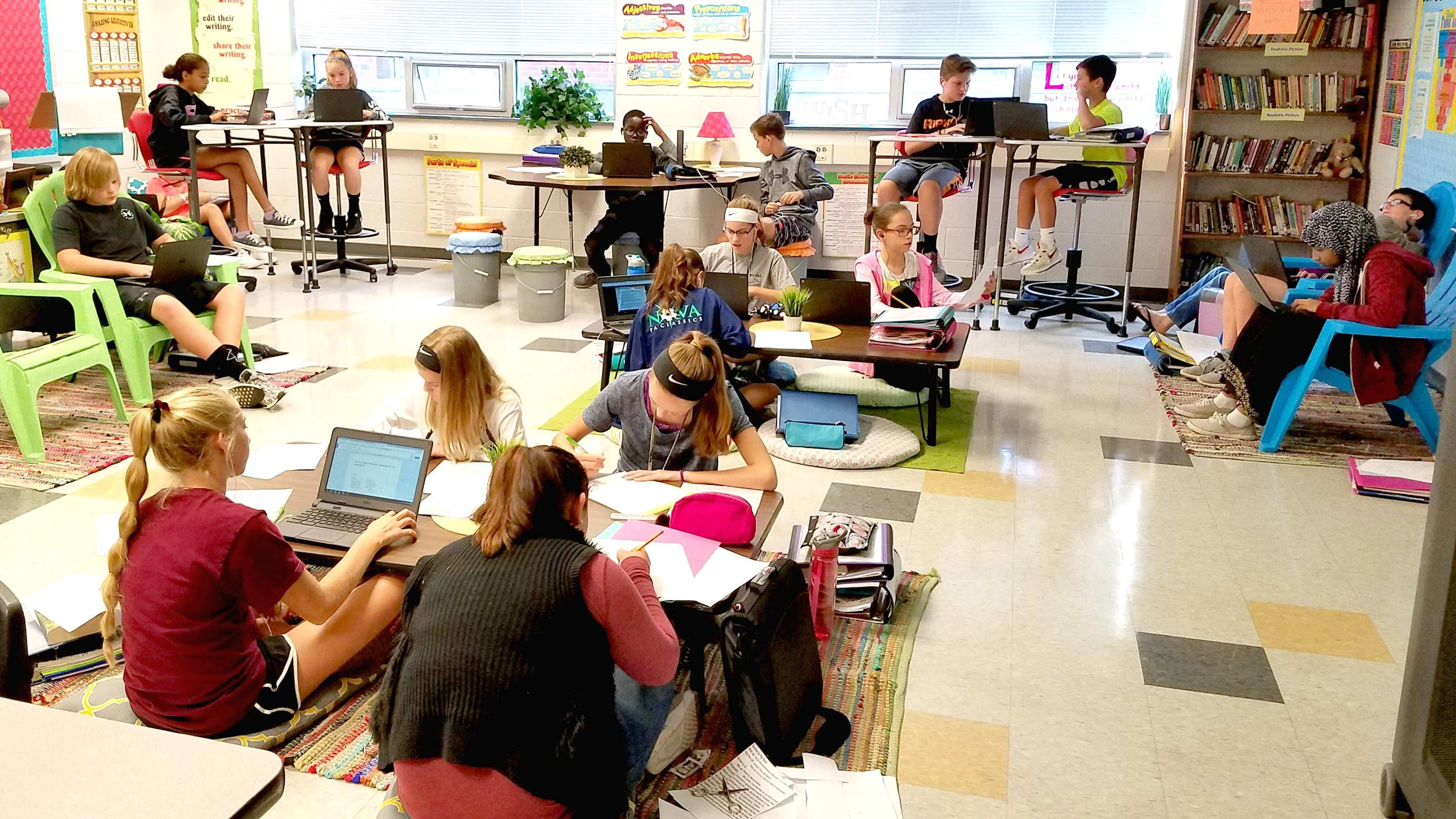 Modern Classroom Teaching Learning Resources ~ A th grade teacher s shift to flexible seating edutopia